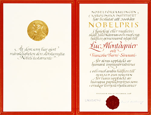 The Nobel Prize in Medicine 2008 Luc Montagnier