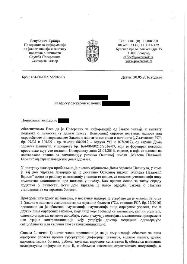 Obaveštenje-Petru-Celiku-o-sprovedenom-nadzoru-vakcinacija-skolske-dece